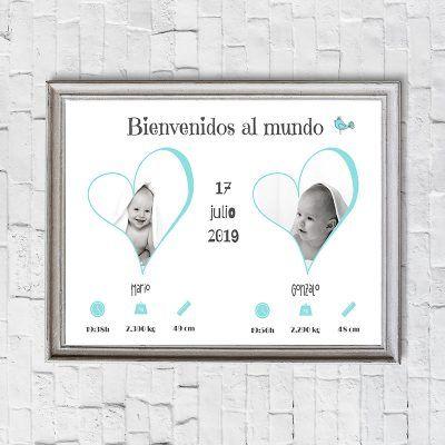 lámina personalizada nacimiento