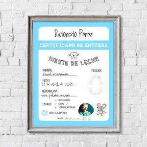 Certificado Ratoncito Pérez