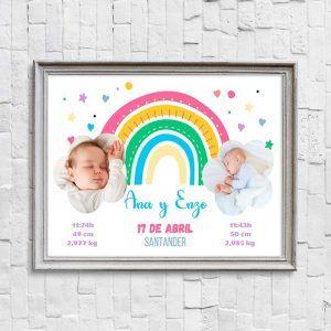 lámina personalizada para gemelos o mellizos